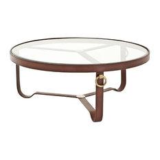 Round Coffee Table Eichholtz Belgravia Black 39-inchx16-inch