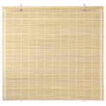 """Oriental Furniture - Bamboo Cordless Window Shade, Natural, 60"""" W - These distinctive cordless shades are easy to hang and operate. The bamboo slats have a natural tone that complements any decorating style from the traditional to the modern."""