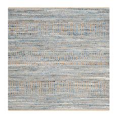 Studio Seven Cape Cod Rug, Natural/Blue, 8'x8' Square