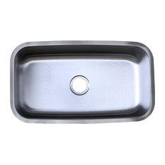 """Luxier C012 31-1/4""""x18"""" Undermount Single Bowl 18 Gauge Kitchen Sink"""