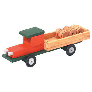 Wooden Tanker Semi Truck Toy, Small - Contemporary - Kids