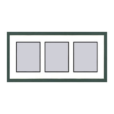 Green Shaker Collage Picture Frame - 3 openings for 5X7 photos