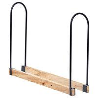 Length Adjustable Outdoor U-shape Firewood Log Rack