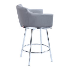 Club Barstool with Memory Swivel in Gray