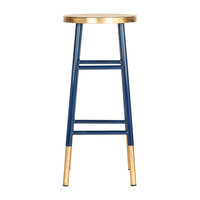 Emery Dipped Navy/Gold Leaf Barstool