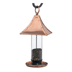 Palazzo Bird Feeder, Polished Copper