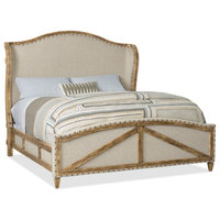 Roslyn County King Deconstructed Uph Panel Bed