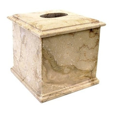 Sahara Beige Marble Tissue Box Holder