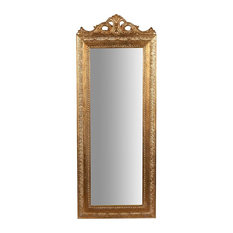 Traditional Wall Mirror, Gold, 35x90 cm