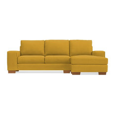 Apt2B   Melrose Reversible Chaise Sofa, Mustard   Sectional Sofas