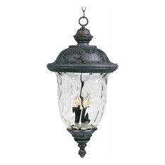Maxim Carriage House VX 3-Light Oriental Bronze, Water Glass Hanging Lantern