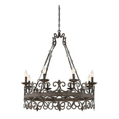 Flanders 8-Light Chandelier, Fieldstone