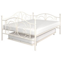 Atwater Living Brandford Full Metal Daybed and Twin Trundle