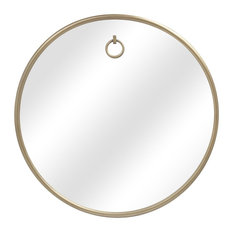 Stan Brass Round Wall Mirror, 32""