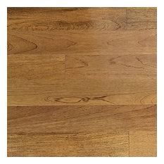 "Peruvian Teak Prefinished Solid Hardwood Flooring 3/4"" x 1'-6' RL x 5"" Alpaca"
