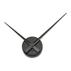 KARLSSON Wall Clock Mini Little Big Time, Black