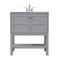 Elegant Decor 30-inch Single Bathroom Vanity Set Gray