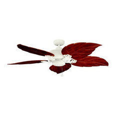 Bestselling tropical ceiling fans for 2018 houzz kichler satin natural white outdoorindoor ceiling fan with dark oak blades ceiling mozeypictures Gallery