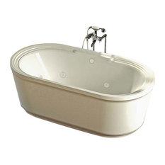 Venzi Padre 34 x 67 x 21 Oval Freestanding Whirlpool Jetted Bathtub By Atlantis