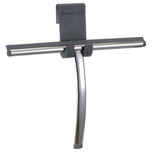 Chrome Window Squeegee and Holder