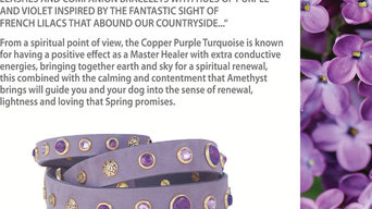 French Lilac's in Spring Dog Collars - Created for the One of A Kind Show in Tor