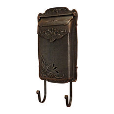 Floral Vertical Mailbox, Copper
