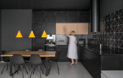 Casas Houzz: Colores llamativos y diseños geométricos en Moscú
