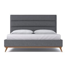 Cooper Upholstered Bed, Smoke, Eastern King