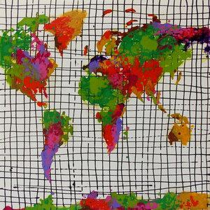 """CartadeColores"" Acrylic Painting, 80x80 cm"