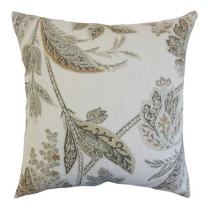 The Pillow Collection Pomona Floral Bedding Sham Hemlock King 20 X 36 Home Kitchen Bedding