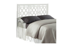 Thomas Chippendale White Headboard, Queen/Full