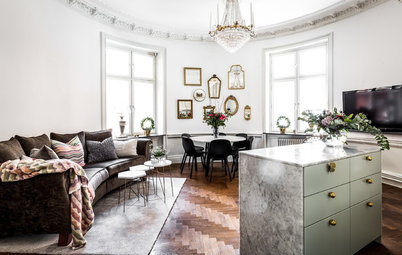 My Houzz: Surrounded by Luxury in a Round Apartment in Sweden