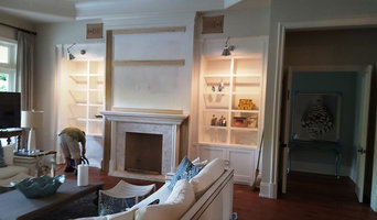 entertainment center and fireplace trim out