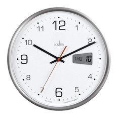 ACCTIM Kalendar Office Digital and Analogue Day Date Quartz Wall Clock, 27cm