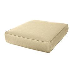 """Deep Seating Sunbrella Chair Cushion, 24.5""""x23.5""""x5"""", Antique Beig"""