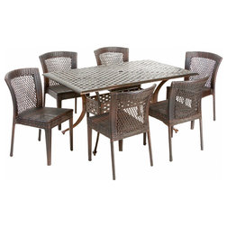 Awesome Contemporary Outdoor Dining Sets by GDFStudio