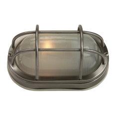 Bulkheads 1 Light Outdoor Ceiling Light in Stainless Steel