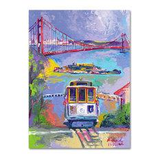 'San Francisco 2' Canvas Art by Richard Wallich