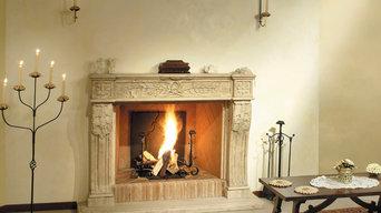 Plaque de cheminée en fonte