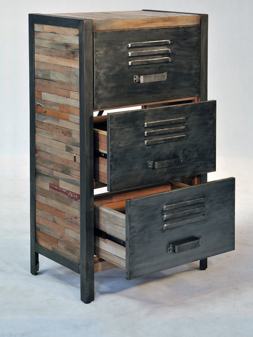 Salvaged boat wood furniture