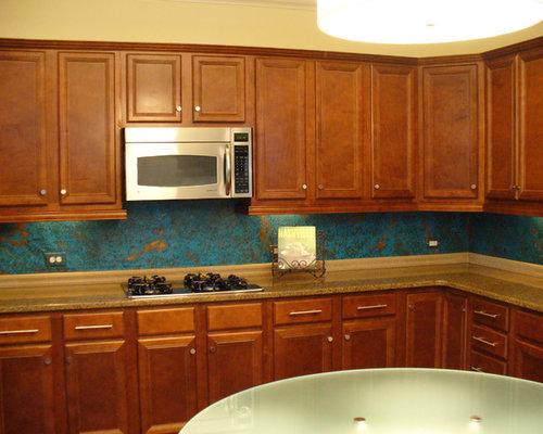 Copper Kitchen Backsplash Wallpaper