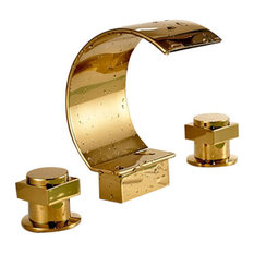 Fontana Showers Solid Br Gold Chrome Bathroom Sink Faucet Faucets