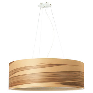 Funk 3-Light Pendant Lamp, Satin Walnut