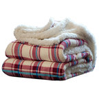 Faux Fur Throw Gray Ombr 233 Contemporary Throws By