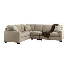 Flash Furniture Signature Design By Ashley Alenya 3 Piece Laf Sofa Sectional Quartz