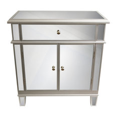 MOD   Iris Mirrored End Table   Accent Chests And Cabinets