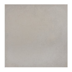 "14.13""x14.13"" Symbol Porcelain Floor/Wall Tiles, Set of 8, White"