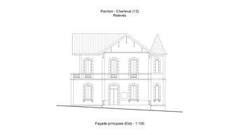 Dessin d'un pavillon du XIXe siècle