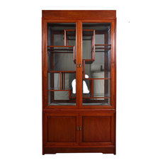 Consigned Vintage, Chinese Rosewood Display/Curio Cabinet