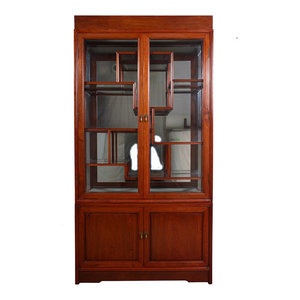 60in Rosewood Mother of Pearl Inlay Motif China Cabinet - Asian - China Cabinets And Hutches ...